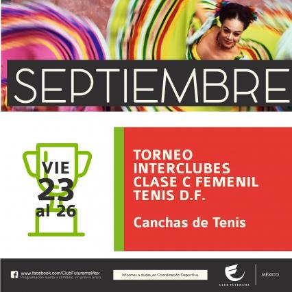 Torneo de Tenis interclubes clase C femenil D.F.