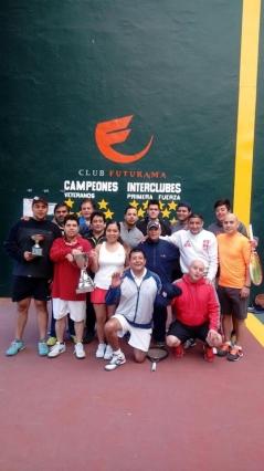 Felicitaciones equipo de Frontenis por torneo interclubes 2017