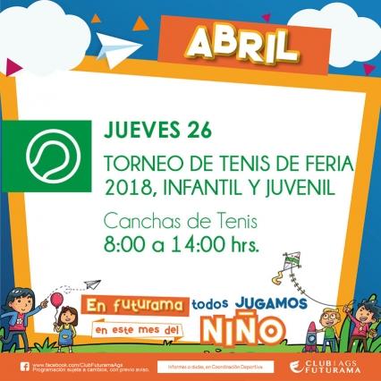 Torneo de Tenis de feria 2018 infantil y juvenil